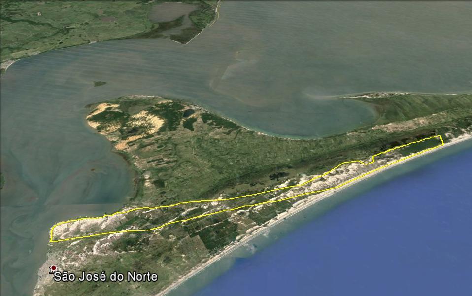 A área em amarelo delimita o contorno do Projeto Retiro.